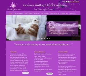 website screenshot vancouver wedding planning