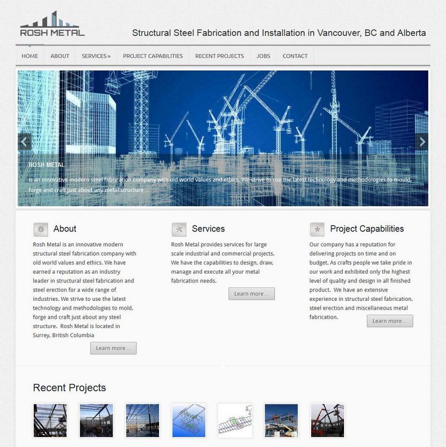 website screenshot rosh metal