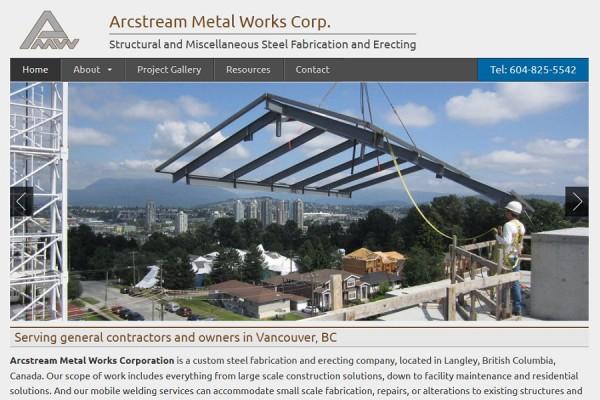 website-screenshot-arcstream-metal-works