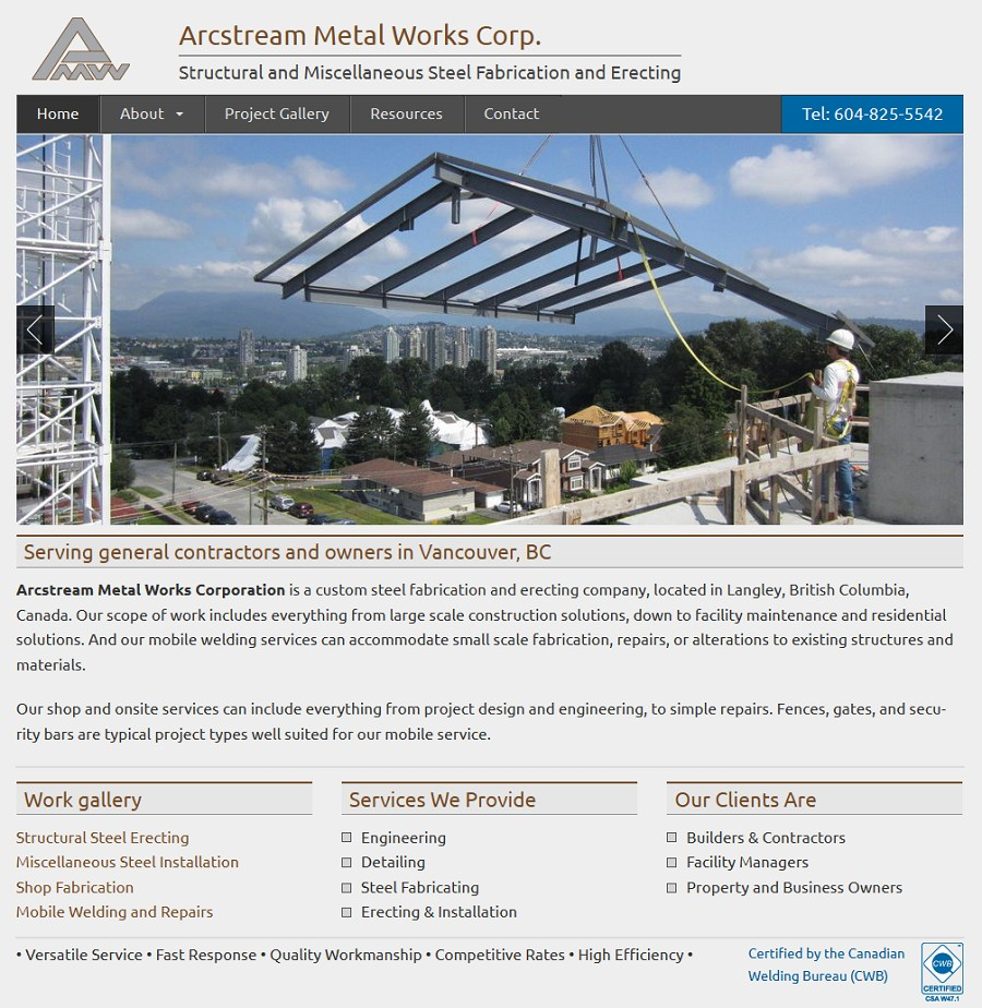 website-screenshot-arcstream-metal-works