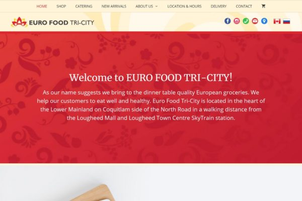 eurofood website screenshot