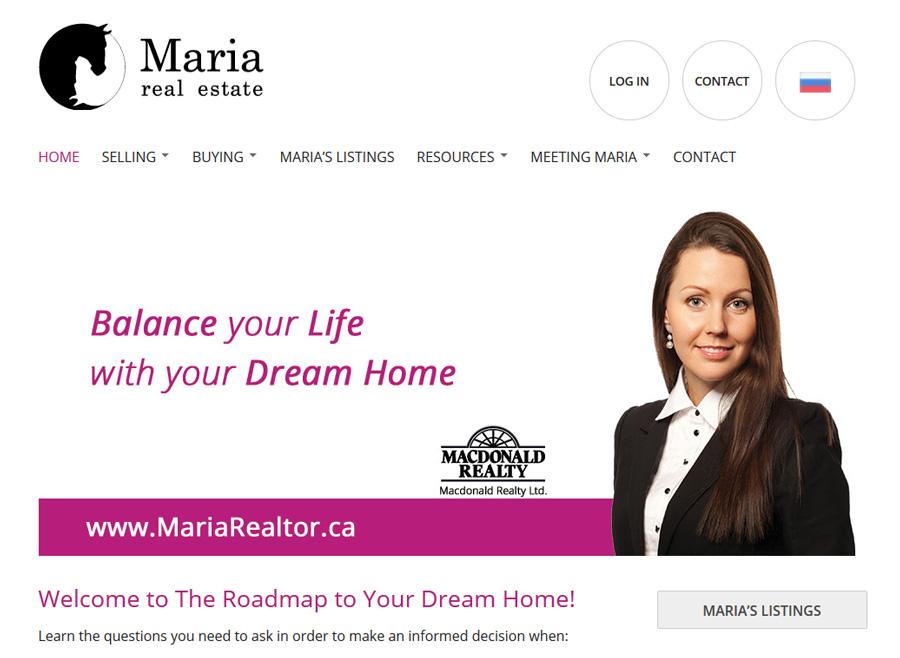 website screenshot realtor vancouver