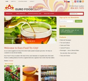 website screenshot eurofood coquitlam