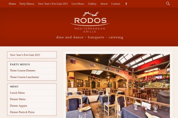 website screenshot rodos-restaurant