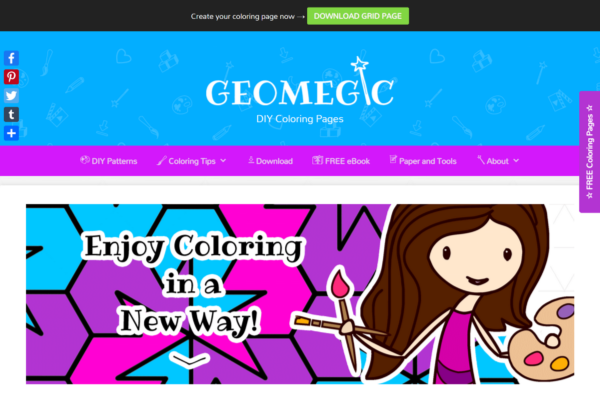 Geomegic DIY Coloring Pages